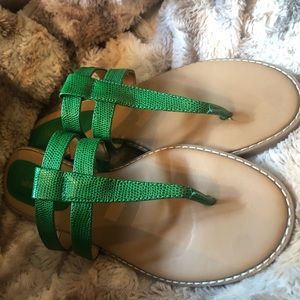 Nine West Green Sandal
